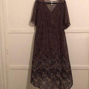 Asymmetrical floral dress